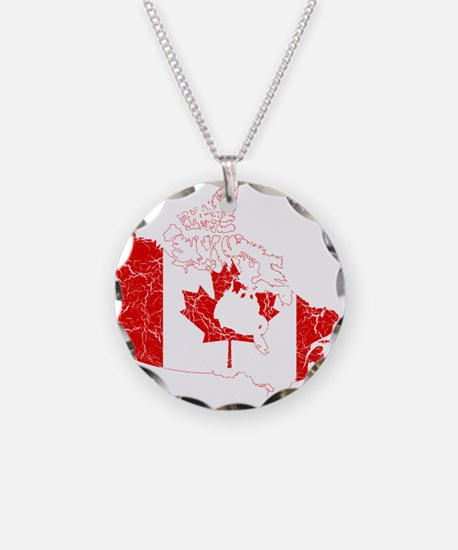 Canada Flag And Map Necklace