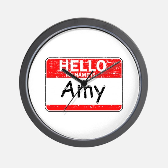Hello My name is Amy Wall Clock