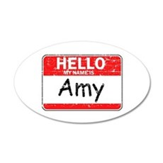 Hello My name is Amy Wall Decal