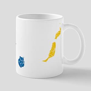 Canary Islands Flag And Map Mug