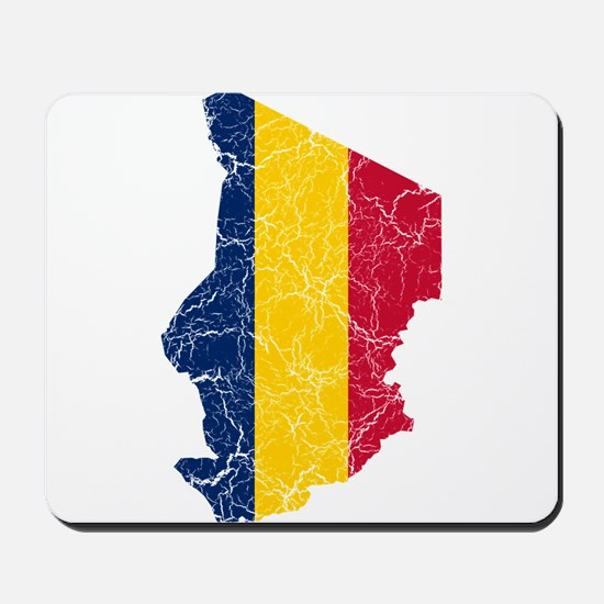 Chad Flag And Map Mousepad