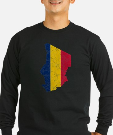Chad Flag And Map T