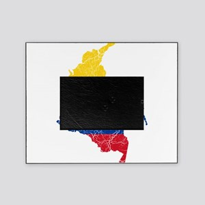 Colombia Flag And Map Picture Frame