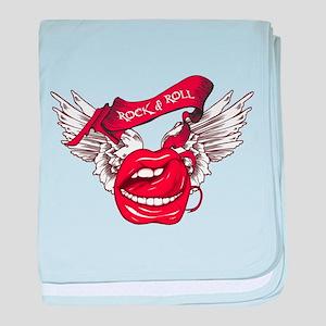 Rock n Roll Text make juice baby blanket