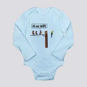 He has WiFi Long Sleeve Infant Bodysuit