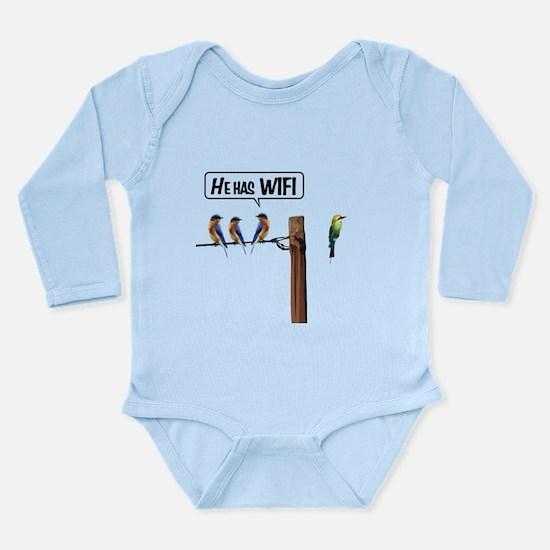 He has WiFi Long Sleeve Infant Bodysuit