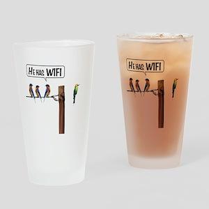 He has WiFi Drinking Glass