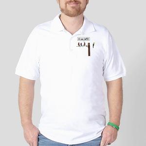 He has WiFi Golf Shirt