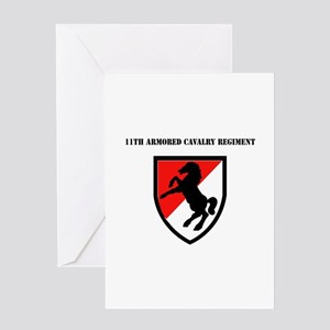 SSI - 11th Armored Cavalry Regiment with Text Gree