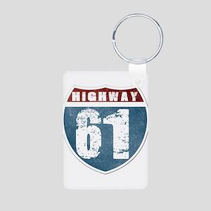 Highway 61 Aluminum Photo Keychain