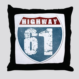 Highway 61 Throw Pillow