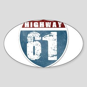Highway 61 Sticker (Oval)