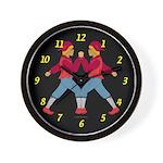 Fairy tale twins Wall Clock