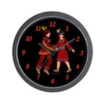 Native American Indians Wall Clock