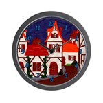 Medieval village Wall Clock