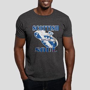 Scotland Football Soul Design Dark T-Shirt