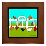 Hens Framed Tile