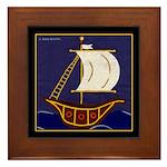 Sailing Ships or Tall Ship Framed Tile