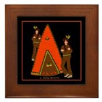 Native American Indian Tale Framed Tile