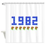 1982 Pengo Penguin Shower Curtain