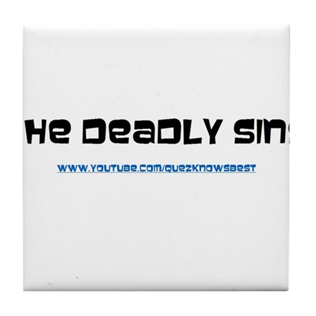The Deadly Sins Main Channel Tile Coaster