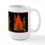 Native American Indian Tale Large Mug