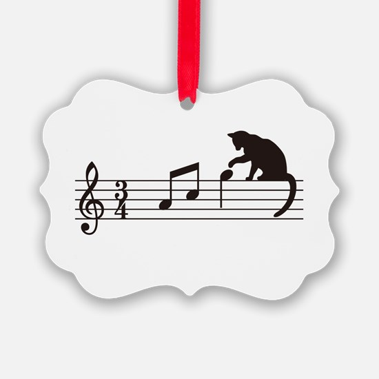 Cat Toying with Note v.1 Ornament