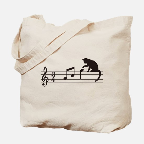 Cat Toying with Note v.1 Tote Bag