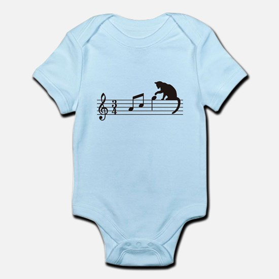 Cat Toying with Note v.1 Infant Bodysuit