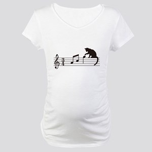 Cat Toying with Note v.1 Maternity T-Shirt