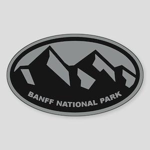 Banff National Park Oval (Sticker)