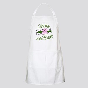 Pink Flower Mother of Bride Apron