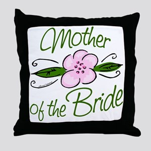 Pink Flower Mother of Bride Throw Pillow