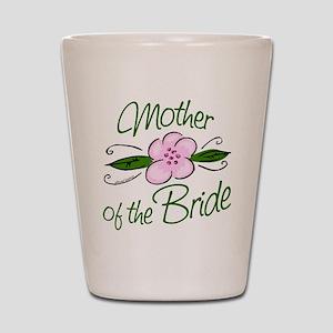 Pink Flower Mother of Bride Shot Glass