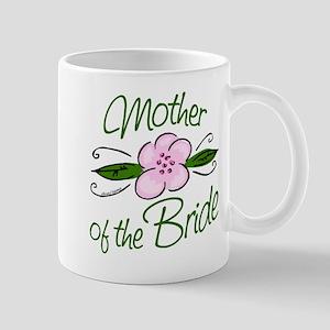Pink Flower Mother of Bride Mug