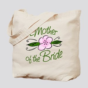 Pink Flower Mother of Bride Tote Bag
