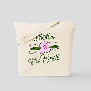 Pink Flower Mother of Bride Tote Bag