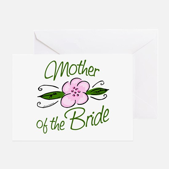 Pink Flower Mother of Bride Greeting Card