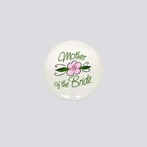Pink Flower Mother of Bride Mini Button