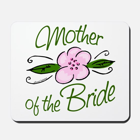 Pink Flower Mother of Bride Mousepad