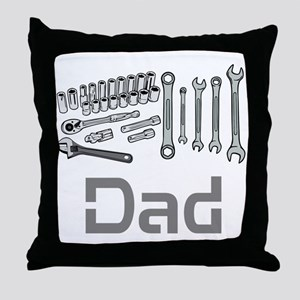 Dad, Tools, Wrenches. Throw Pillow