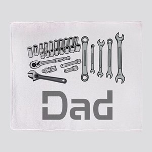 Dad, Tools, Wrenches. Throw Blanket