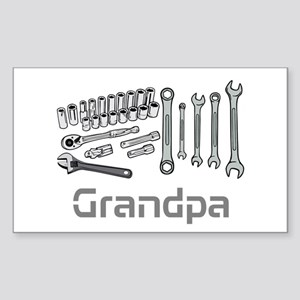 Grandpa, DIY Tools. Sticker (Rectangle)