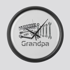 Grandpa, DIY Tools. Large Wall Clock