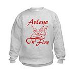 Arlene On Fire Kids Sweatshirt