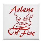 Arlene On Fire Tile Coaster