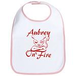 Aubrey On Fire Bib