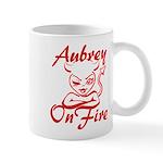 Aubrey On Fire Mug