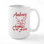 Aubrey On Fire Large Mug