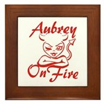 Aubrey On Fire Framed Tile